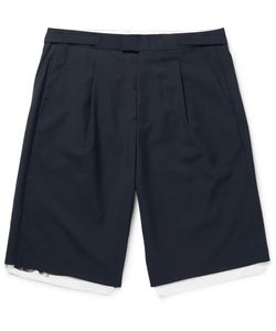 Raf Simons | Pleated Wool And Cotton-Canvas Shorts