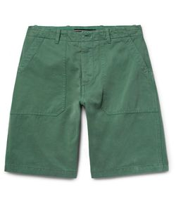 The Workers Club | Garment-Dyed Cotton-Twill Chino Shorts