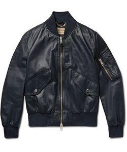 Burberry | Leather Bomber Jacket