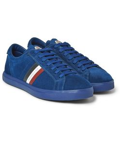 Moncler | La Monaco Leather-Trimmed Suede Sneakers