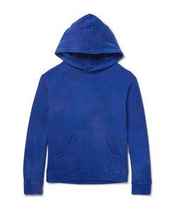 The Elder Statesman   Garment-Dyed Fleece-Back Cotton-Jersey Hoodie