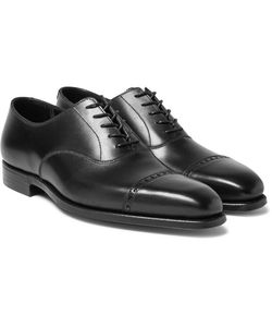 GEORGE CLEVERLEY | Charles Cap-Toe Leather Oxford Shoes