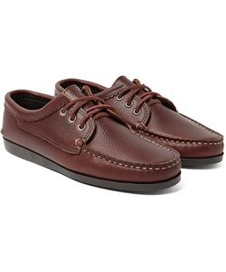 Quoddy | Blucher Full-Grain Leather Boat Shoes