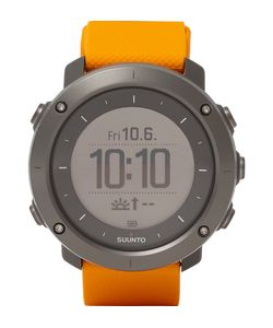 SUUNTO | Traverse Amber Stainless Steel And Silicone Gps Watch