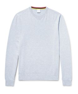 Paul Smith | Mélange Cashmere Cotton And Wool-Blend Sweater Sky