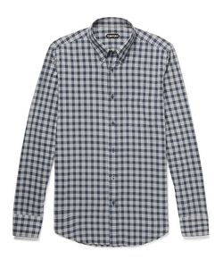 Tom Ford | Rady Slim-Fit Button-Down Collar Checked Cotton-Voile Shirt