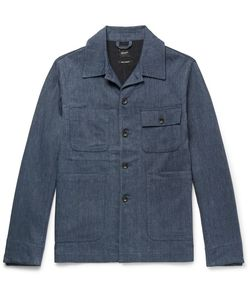 Albam | Mechanics Herringbone Cotton And Linen-Blend Jacket