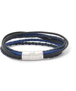 Tateossian | Cobra Woven Leather Tone Bracelet