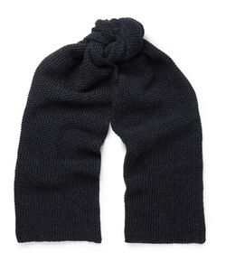 The Workers Club | Moss-Stitched Merino Wool Scarf