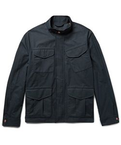 Private White V.C. | Private V.C. Track Cotton Ventile Ripstop Raincoat Midnight