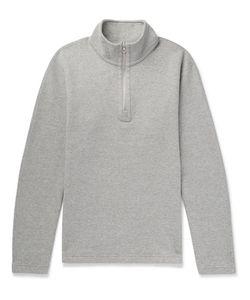 Reigning Champ | Perforated Cotton-Blend Half-Zip Sweatshirt