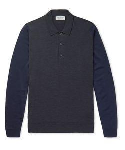 John Smedley | Hindlow Two-Tone Merino Wool Sweater