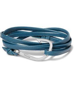 MIANSAI   Hook Leather And Tone Wrap Bracelet