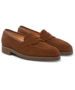 GEORGE CLEVERLEY | Bradley Suede Penny Loafers