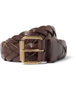 J.Crew | 3cm Woven Leather Belt