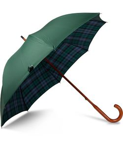 LONDON UNDERCOVER | Watch Check-Lined Maplewood-Handle Umbrella