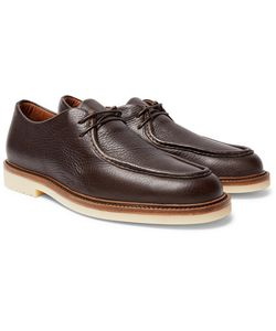 Loro Piana | Dover Walk Textured-Leather Derby Shoes
