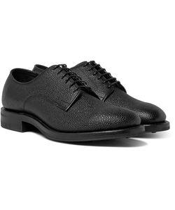 Viberg | Pebble-Grain Leather Derby Shoes