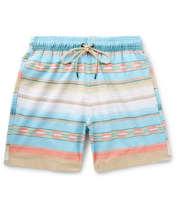 Faherty | Mid-Length Printed Swim Shorts