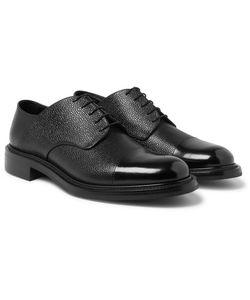 O'Keeffe | Scout Cap-Toe Pebble-Grain Leather Derby Shoes