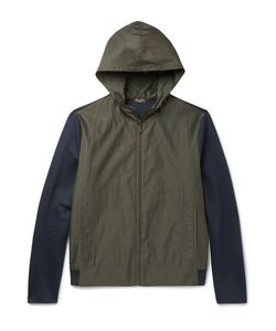 BERLUTI | Slim-Fit Jersey-Panelled Cotton And Silk-Blend Hooded Jacket