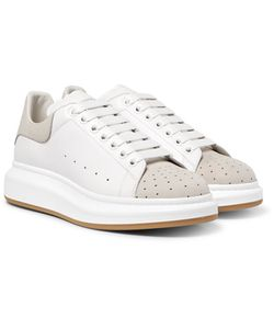 Alexander McQueen | Exaggerated-Sole Leather And Perforated Suede Sneakers