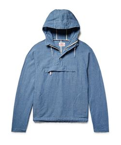 Battenwear | Linen And Cotton-Blend Chambray Hooded Anorak
