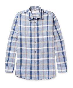 Private White V.C.   Private V.C. Checked Linen And Cotton-Blend Shirt