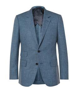 Kingsman | Eggsy Slim-Fit Mélange Wool Silk And Linen-Blend Suit