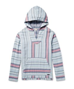 Faherty | Baja Striped Double-Faced Cotton Hoodie