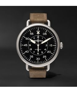 Bell & Ross | Ww1-92 45mm Steel And Distressed Suede Watch