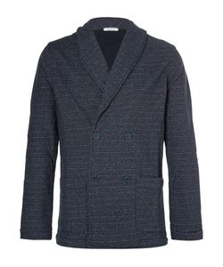 Eidos | Shawl-Collar Double-Breasted Loopback Cotton-Jersey Blazer