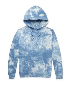 Beams | Distressed Tie-Dyed Loopback Cotton-Jersey Hoodie