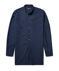 HELBERS   Grandad-Collar Cotton-Poplin Tunic