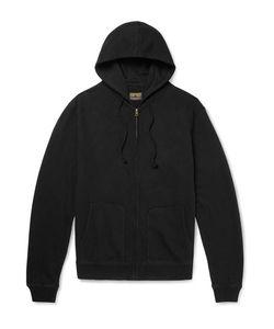 JEAN SHOP | Embroidered Fleece-Back Cotton-Jersey Zip-Up Hoodie