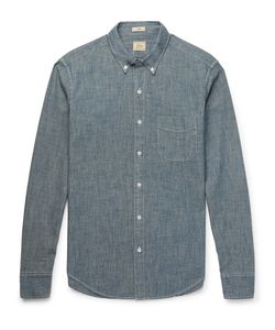 J.Crew | Slim-Fit Button-Down Collar Cotton-Chambray Shirt