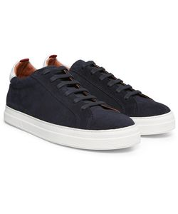 Oliver Spencer | Ambleside Leather-Trimmed Suede Sneakers