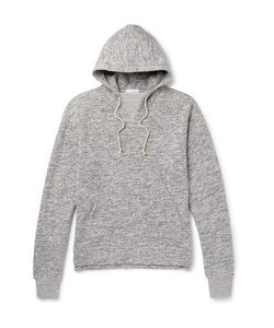 John Elliott | Kake Mock Mélange Fleece-Back Cotton-Blend Hoodie
