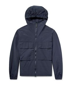 SATURDAYS NYC | Travis Cotton And Nylon-Blend Hooded Jacket Midnight