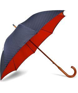 LONDON UNDERCOVER | Polka-Dot Maple Wood-Handle Umbrella
