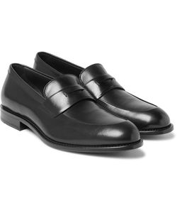 HUGO BOSS | Stockholm Polished-Leather Penny Loafers