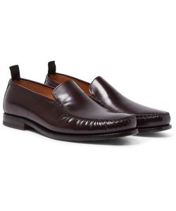 HELBERS | Polished-Leather Loafers