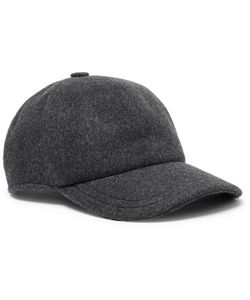 BERLUTI | Leather-Trimmed Cashmere Baseball Cap