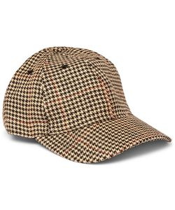 Our Legacy | Houndstooth Linen-Tweed Baseball Cap
