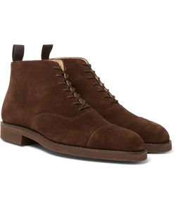 GEORGE CLEVERLEY | William Cap-Toe Suede Boots