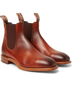 R.M.Williams | Chinchilla Burnished-Leather Chelsea Boots