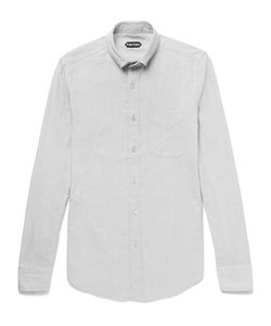 Tom Ford | Button-Down Collar Cotton-Blend Twill Shirt