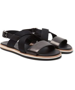 Want Les Essentiels | Jobim Leather And Canvas Sandals