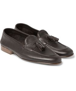 EDWARD GREEN | Portland Cross-Grain Leather Tasselled Loafers