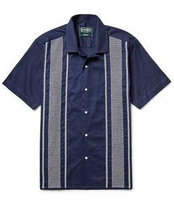 Gitman Vintage | Camp-Collar Embroide Cotton Guayabera Shirt
